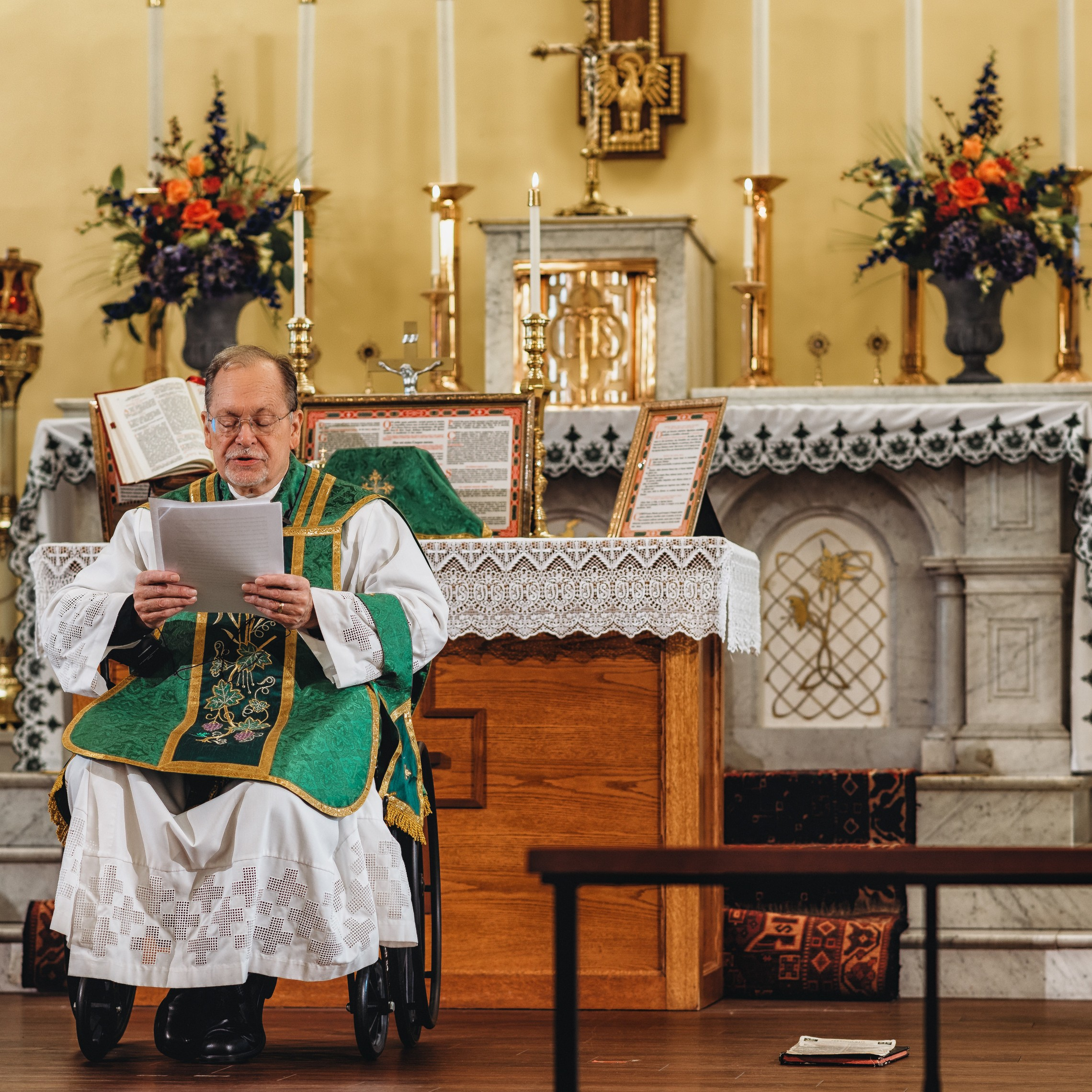 Fr Klein Latinmass Wheelchair