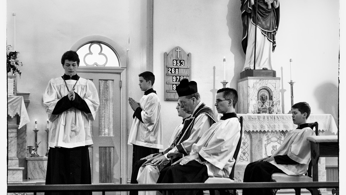 Latinmass St. Patricks High Mass Altar Servers Bw 1 Of 1