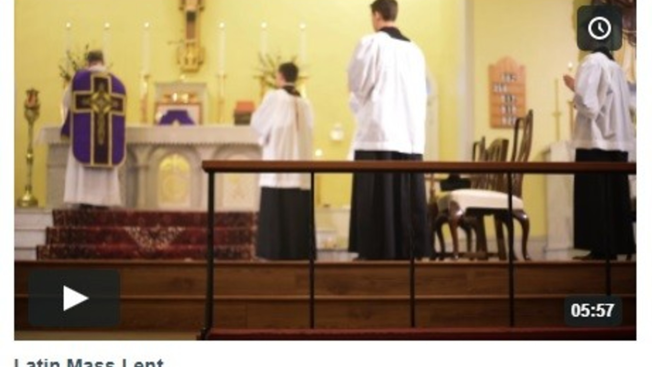 Latin Mass Lent Video