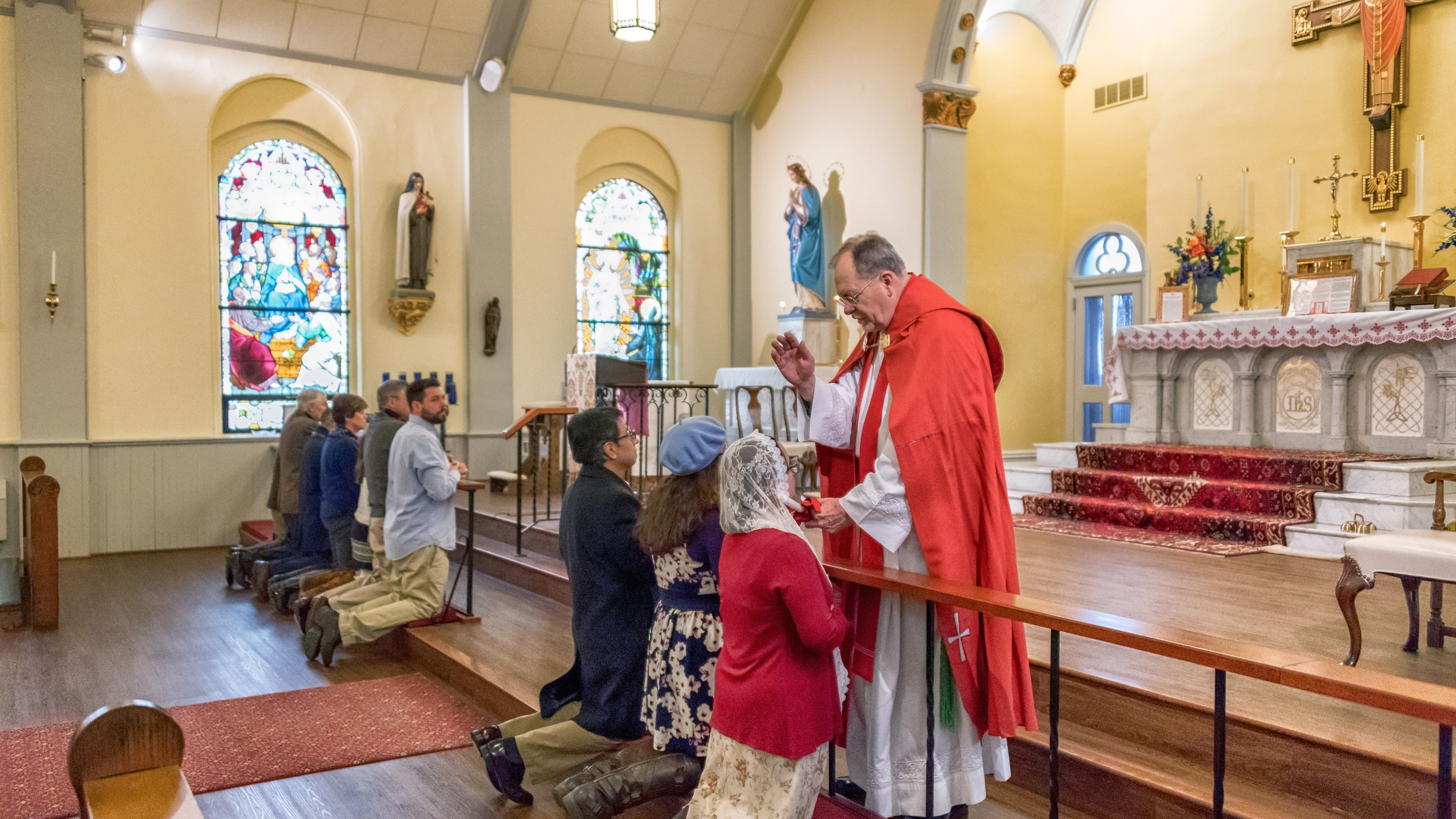Latinmass St. Patrick Throat Blessing 1 Of 1